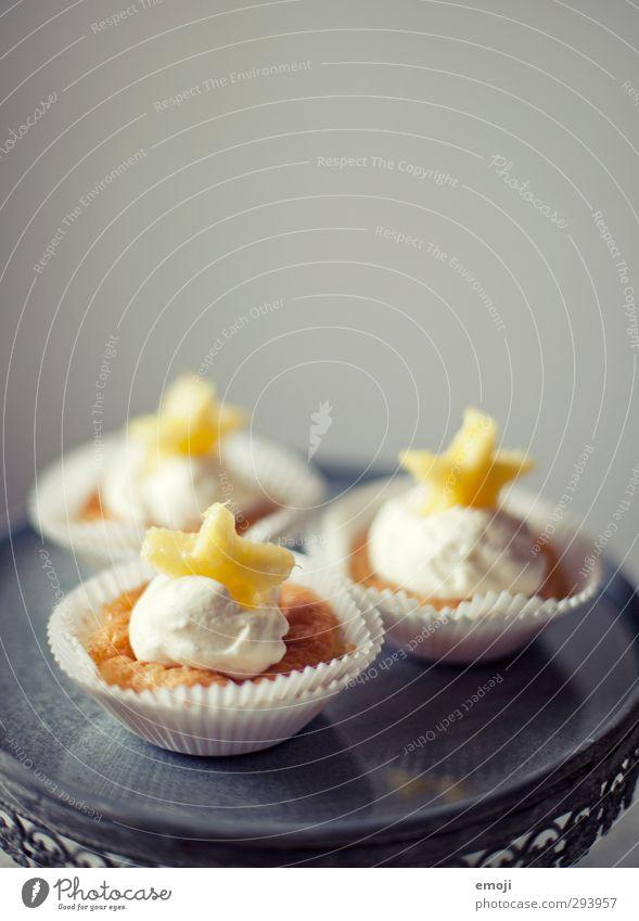 z'Vieri gelb Ernährung süß lecker Süßwaren Teller Picknick Dessert Muffin Fingerfood Cupcake