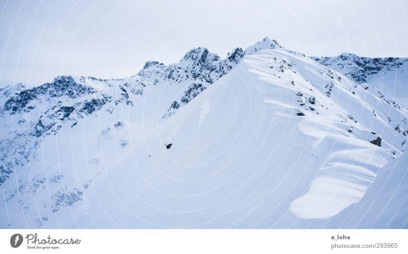 i am the mountain Himmel Natur Einsamkeit Landschaft Winter Umwelt Ferne Berge u. Gebirge kalt Schnee Freiheit Luft Felsen Eis Wetter Klima