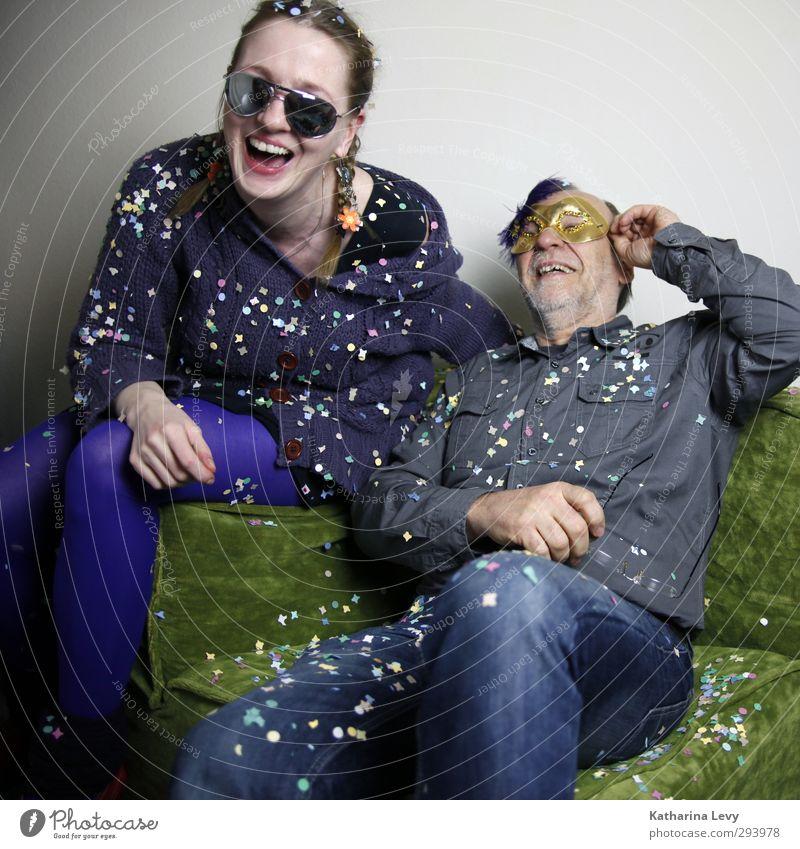Fotobooth IV Mensch Frau Mann grün Freude Erwachsene Leben lachen Gefühle lustig grau Feste & Feiern Freundschaft Geburtstag frisch Fröhlichkeit