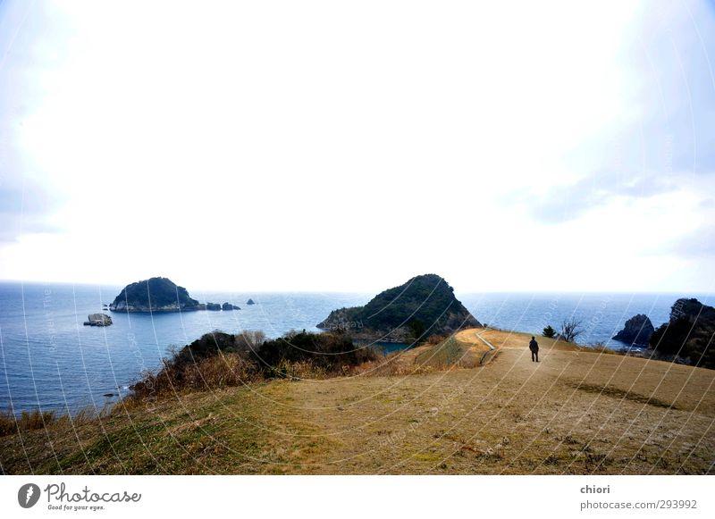 Natur blau weiß Meer Landschaft Winter ruhig schwarz Freiheit Küste Horizont träumen Freundschaft groß stehen Ausflug