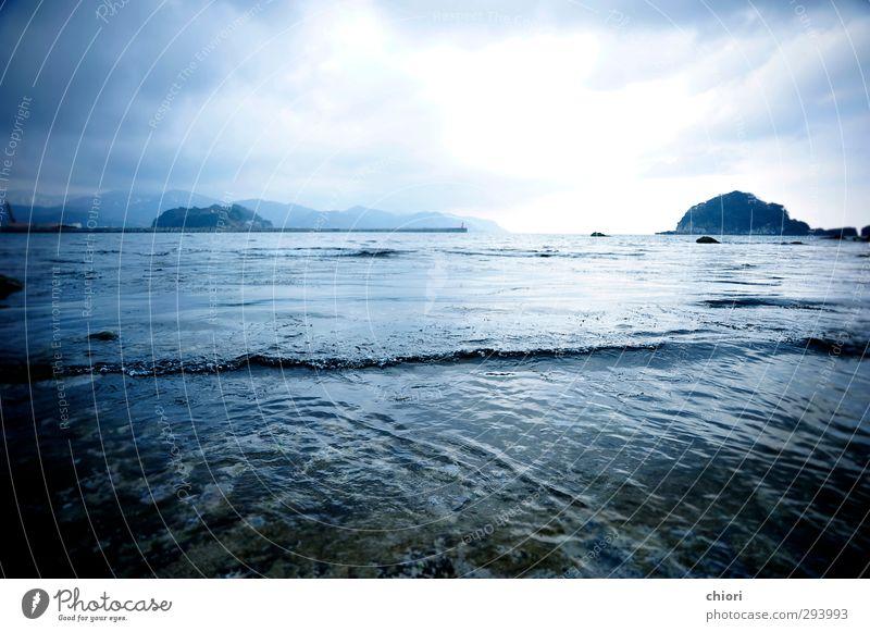 blau schön Wasser weiß Meer Strand Winter schwarz Liebe Küste Freiheit Kunst Stimmung Horizont träumen Wellen