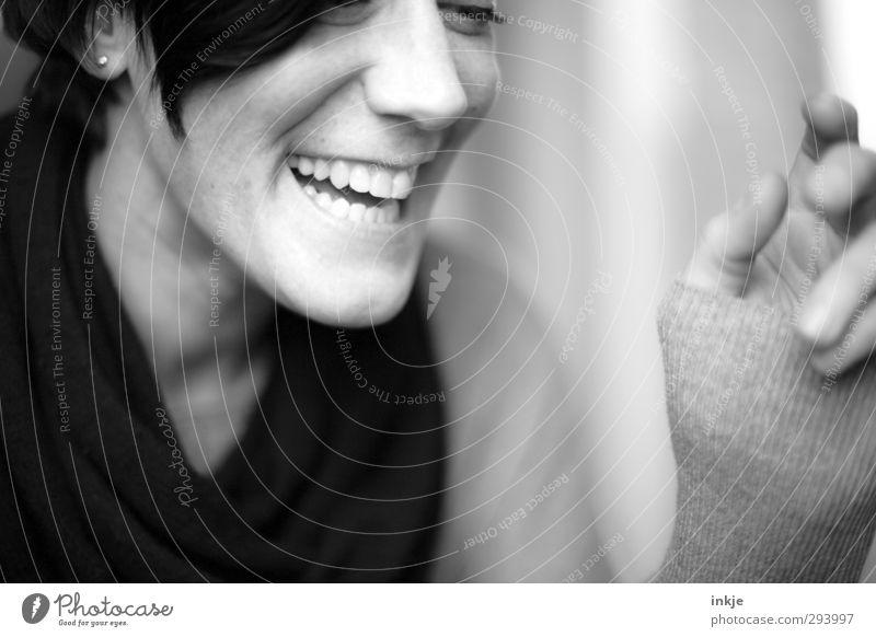 :-D Mensch Frau schön weiß Freude schwarz Gesicht Erwachsene Leben lachen Gefühle lustig Gesundheit Stimmung Freizeit & Hobby authentisch