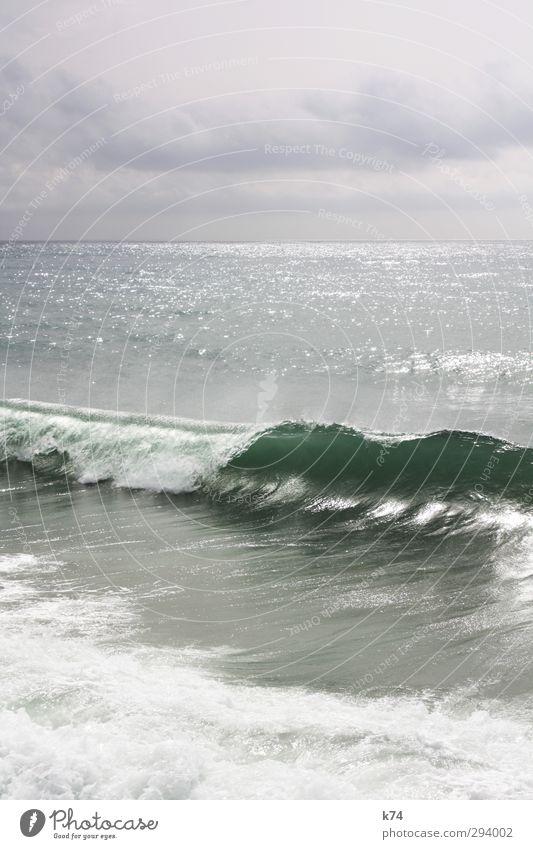 ola Himmel Wasser Meer Wolken Landschaft Ferne Küste Horizont Wellen leuchten