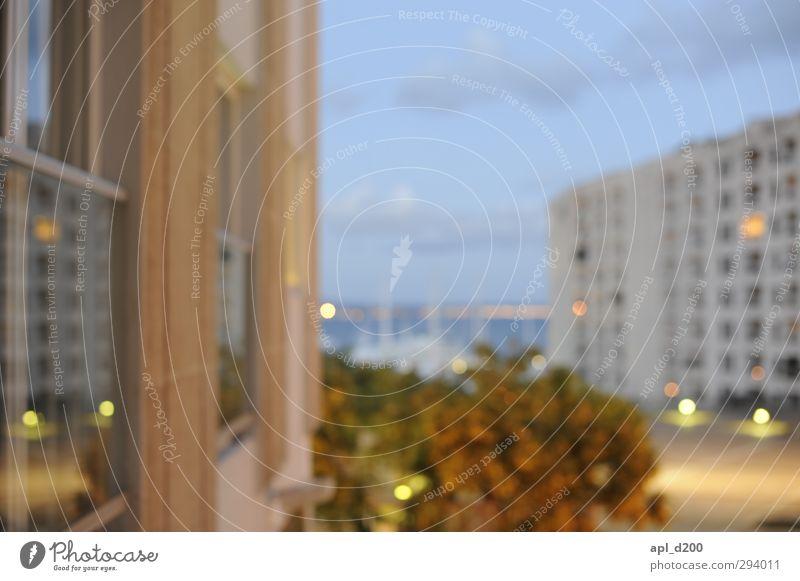 Etwas unschärfe blau Ferien & Urlaub & Reisen Stadt Sommer Haus Wärme Warmherzigkeit Lebensfreude Europäer Hafen Hotel Duft Spanien Hauptstadt Hafenstadt