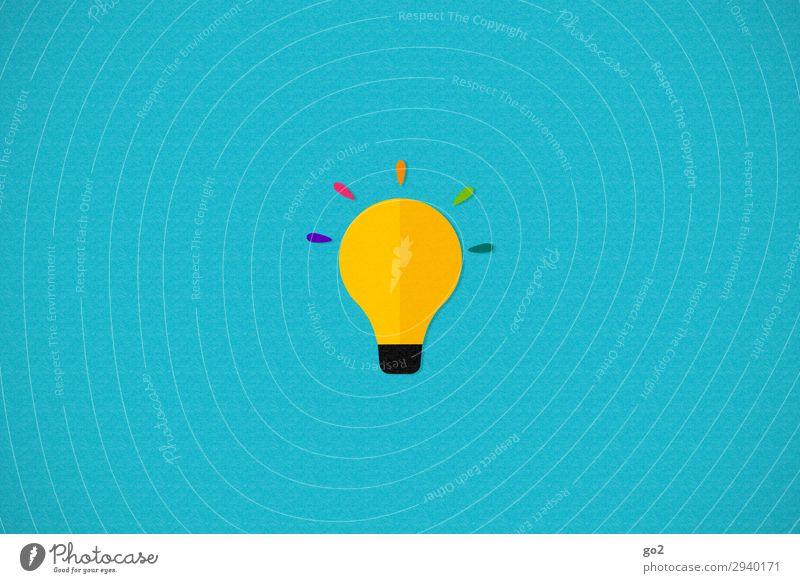 Idee Glühbirne Zeichen ästhetisch einzigartig positiv Fröhlichkeit Optimismus Leben Überraschung Design Energie entdecken Erfolg erleben Fortschritt Freiheit