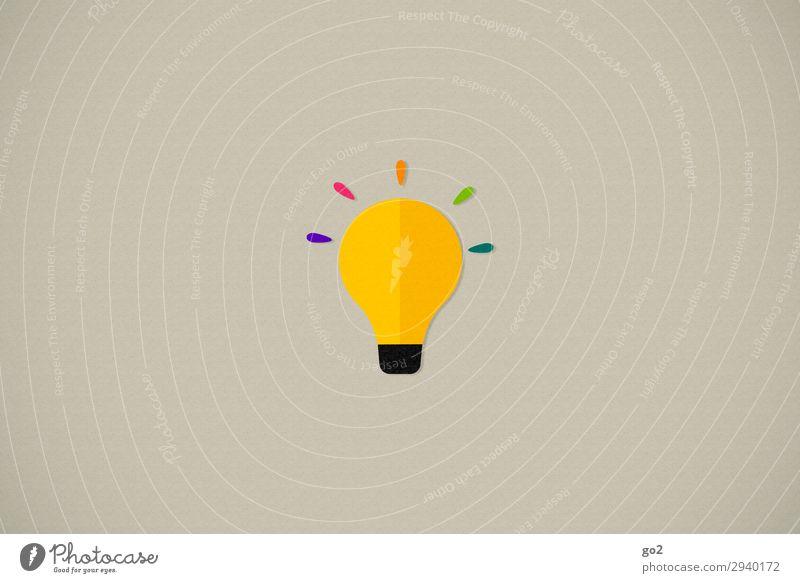 Idea Freizeit & Hobby Spielen Basteln Glühbirne Zeichen außergewöhnlich einzigartig Neugier mehrfarbig Fröhlichkeit Optimismus Leben Überraschung Design Energie
