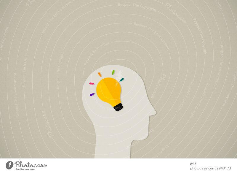 Idea Medienbranche Werbebranche Mensch Kopf 1 Zeichen Denken ästhetisch außergewöhnlich Neugier Bildung einzigartig Energie entdecken Fortschritt Idee innovativ