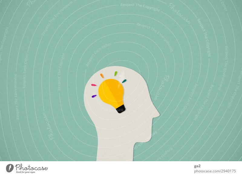 Inspiration Medienbranche Kopf 1 Mensch Zeichen ästhetisch außergewöhnlich Neugier Design einzigartig entdecken Erfolg Fortschritt Idee innovativ Kreativität