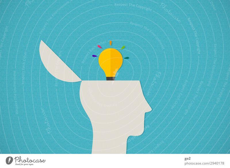 Idea Schule lernen Studium Medienbranche Werbebranche Mensch Kopf 1 Zeichen ästhetisch außergewöhnlich Bildung Design einzigartig Erfolg Fortschritt Idee