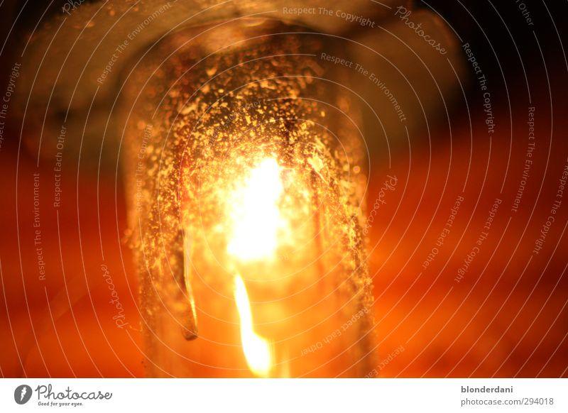 Leuchtender Dreck Dekoration & Verzierung Technik & Technologie glänzend genießen gelb rot ruhig Glühbirne Lichterkette Staub Beleuchtung wolframfaden Farbfoto