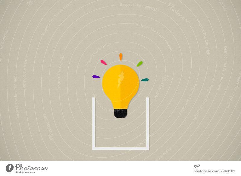 Think outside the box Werbebranche Sitzung Glühbirne Zeichen ästhetisch außergewöhnlich frisch Unendlichkeit einzigartig Neugier mehrfarbig Optimismus beweglich