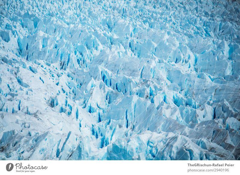 Perito Moreno Gletscher Umwelt Natur Landschaft blau türkis weiß Eis Schnee Argentinien Patagonien Riss Strukturen & Formen eismasse Muster zerbrechlich kalt