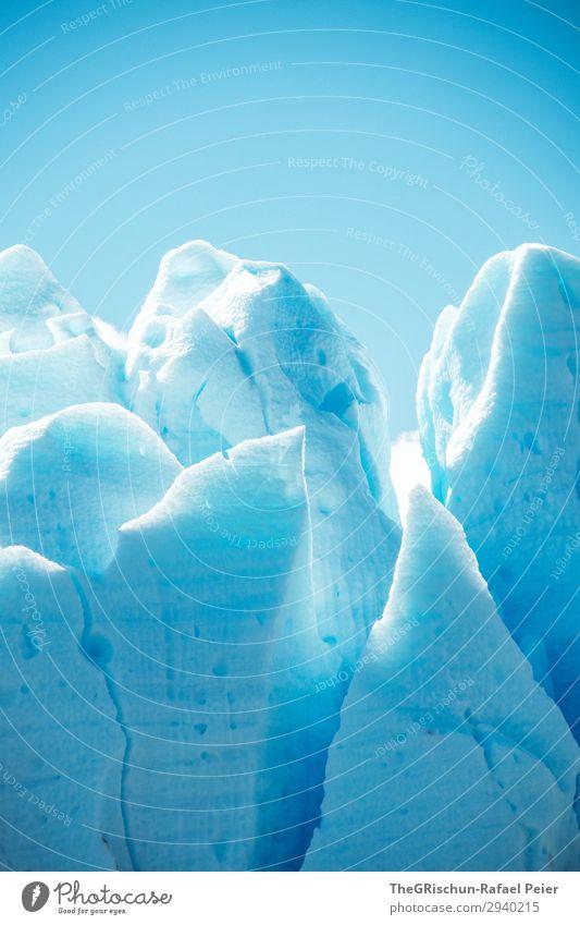 Eisberg Umwelt Natur blau türkis weiß Schnee Strukturen & Formen Riss brechen Gletscher Perito Moreno Gletscher Sonnenlicht Schatten Silhouette Patagonien