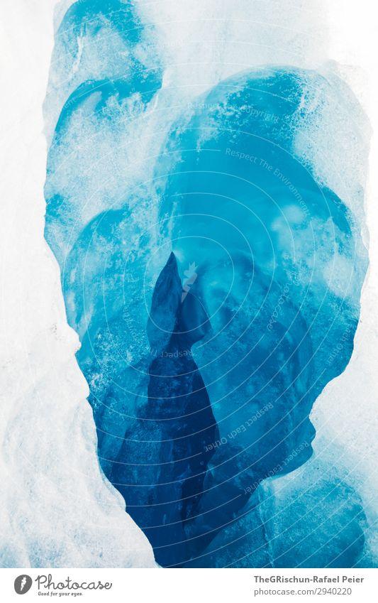 Gletschermühle - Perito Moreno Umwelt Natur blau weiß Eis Muster Strukturen & Formen Herz Katze Silhouette Licht Schnee kalt abstrakt Kunst