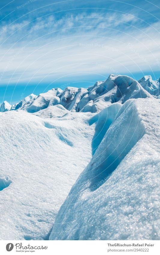 Eisberg Natur blau türkis weiß Gletscher Perito Moreno Gletscher Schnee Strukturen & Formen Spitze Gletscherwanderung Schatten Licht Wolken Argentinien