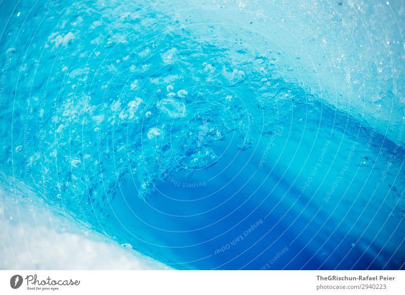 Eis-Muster Natur blau türkis weiß Kontrast Luftblase Wasser Gletscher Gletschermühle Strukturen & Formen Farbfoto Außenaufnahme Experiment Menschenleer