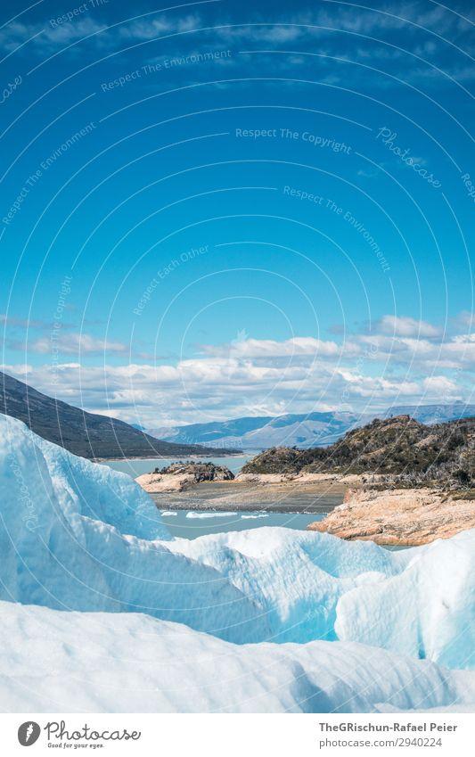 Perito Moreno - Gletscherwanderung Umwelt Natur Landschaft blau weiß Küste See Perito Moreno Gletscher Schnee Eis Wolken Kontrast Schatten Licht Farbfoto