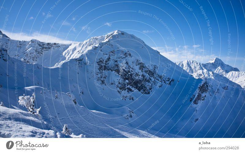 hard sun Himmel Natur blau weiß Pflanze Einsamkeit Landschaft Wolken Winter Umwelt Ferne Berge u. Gebirge Schnee Felsen Eis Schönes Wetter