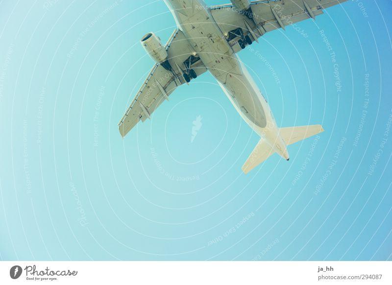 Abflug Ferien & Urlaub & Reisen Tourismus Ferne Sommerurlaub Güterverkehr & Logistik Energiewirtschaft Luftverkehr Wolkenloser Himmel Klimawandel Flugzeug