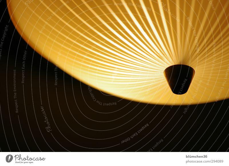 Schatten | ...und Licht! Lampe Energiewirtschaft Glas hängen leuchten gelb schwarz Lichtschein Haushalt Elektrizität Deckenlampe Lifestyle Design