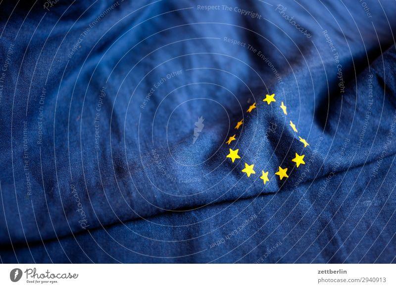 Europa Baumwolle blau brexit Design euro Europafahne Fahne Falte gelb Stoff gold Kreis Stern (Symbol) Symbole & Metaphern Textilien Wahrzeichen Menschenleer