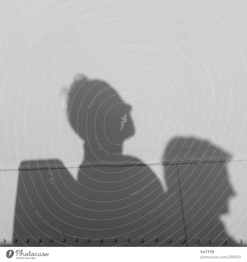 Schatten | Genießer Mensch Frau Ferien & Urlaub & Reisen Mann Sommer weiß Erholung Erwachsene Senior feminin grau Paar Zusammensein maskulin authentisch