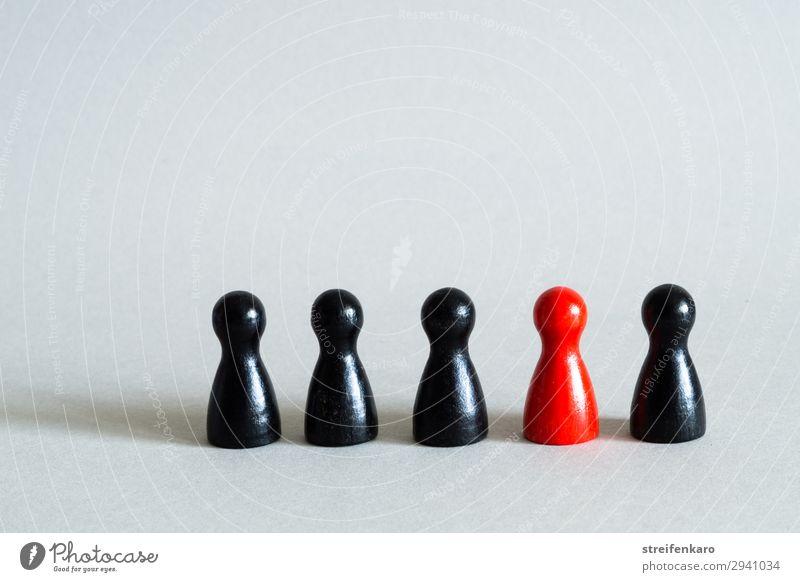 Integration rot schwarz Holz Business Spielen Schule Menschengruppe Zusammensein Freundschaft Kraft Erfolg einzigartig Hilfsbereitschaft Sicherheit Team