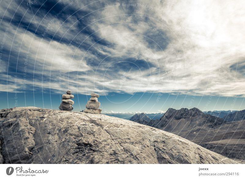 Twin Tower Himmel Natur blau alt weiß Sonne Wolken Landschaft Umwelt Berge u. Gebirge Freiheit braun Felsen Freizeit & Hobby Schönes Wetter Urelemente
