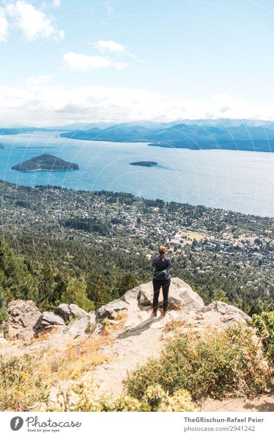 Aussicht Natur Landschaft blau Wald Panorama (Aussicht) bariloche See Argentinien Patagonien Südamerika Mensch staunen genießen Ferien & Urlaub & Reisen