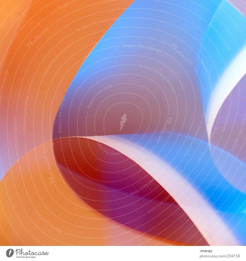 Interior blau schön Farbe Architektur Innenarchitektur Stil Hintergrundbild Linie Kunst außergewöhnlich orange elegant Design modern Lifestyle verrückt