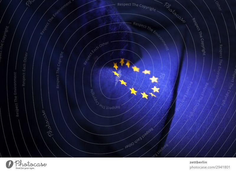EU Baumwolle blau brexit Design euro Europa Europafahne Fahne Falte gelb Stoff gold Kreis Stern (Symbol) Symbole & Metaphern Textilien Wahrzeichen