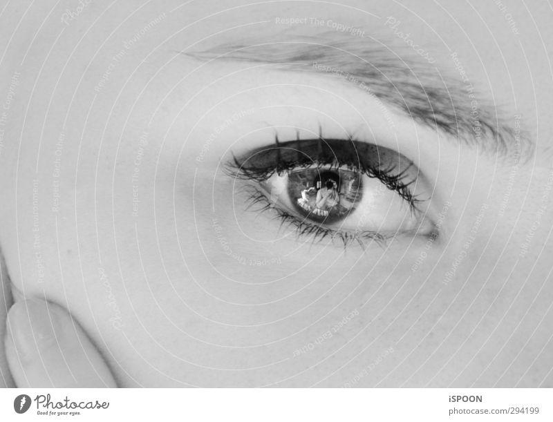 AUGE Mensch Jugendliche schön Junge Frau Erwachsene Gesicht Auge Erotik feminin 18-30 Jahre Stil Haut elegant leuchten Finger ästhetisch