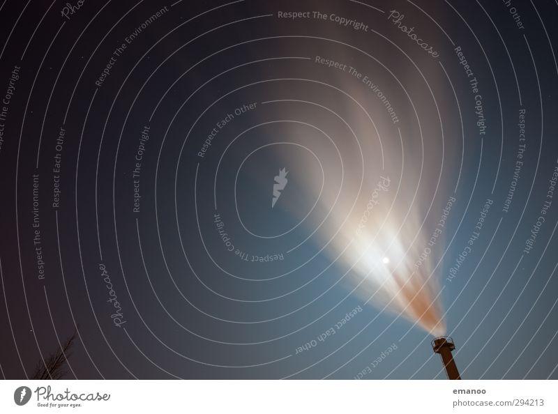 Emissionierung Himmel Natur Stadt blau Wolken dunkel Bewegung Gebäude Energiewirtschaft Wind Technik & Technologie Klima Zukunft bedrohlich Industrie Rauch
