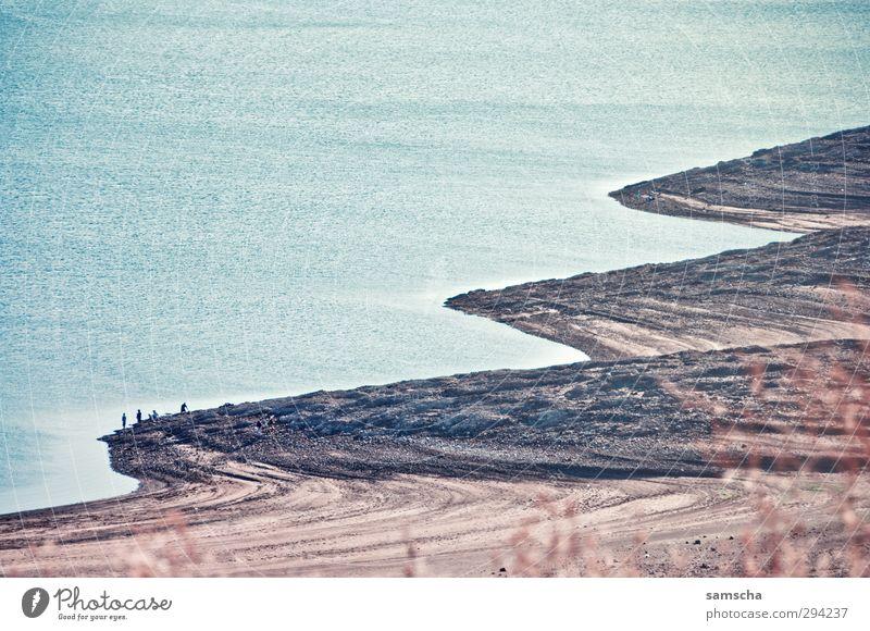 rundungen Sommer Sommerurlaub Strand Umwelt Natur Landschaft Wasser Küste Seeufer wandern Uferpromenade Wasseroberfläche USA Fischer Am Rand Wasserstand steinig