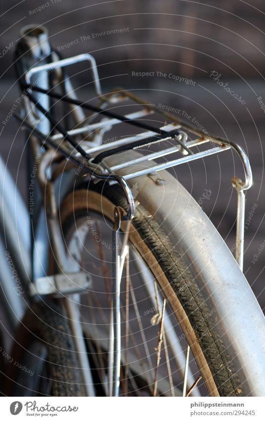 Fahr Rad!!! Freizeit & Hobby Fahrradtour Fitness Sport-Training Fahrradfahren alt kaputt schwarz silber Trägheit Beginn Ende Schrott Recycling Außenaufnahme