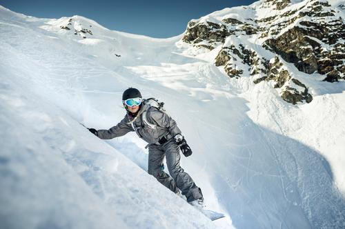 Princessa on the Rocks Winter Berge u. Gebirge Schnee Sport Felsen Freizeit & Hobby Schönes Wetter Abenteuer berühren sportlich Leidenschaft abwärts