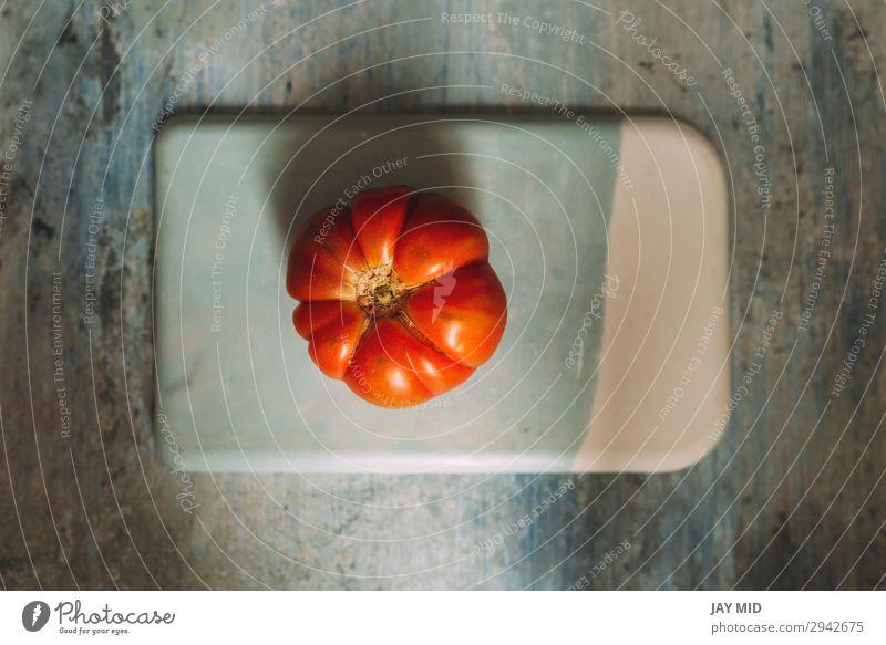 Frische rote Marmande RAF rote Tomaten auf Steintisch Lebensmittel Gemüse Frucht Ernährung Vegetarische Ernährung Diät Garten Tisch Natur frisch natürlich