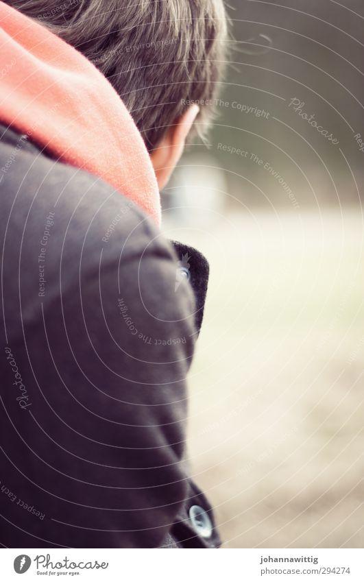 i will wait for you – Mensch Jugendliche Einsamkeit ruhig Junger Mann 18-30 Jahre Erwachsene Leben Paar träumen braun Park maskulin Orange Rücken warten
