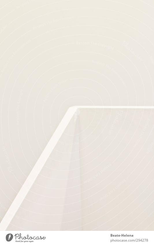 Ist doch klar! Lifestyle Stil Häusliches Leben Treppenhaus Haus Architektur Stein ästhetisch außergewöhnlich elegant hell kalt schön weiß Reinheit