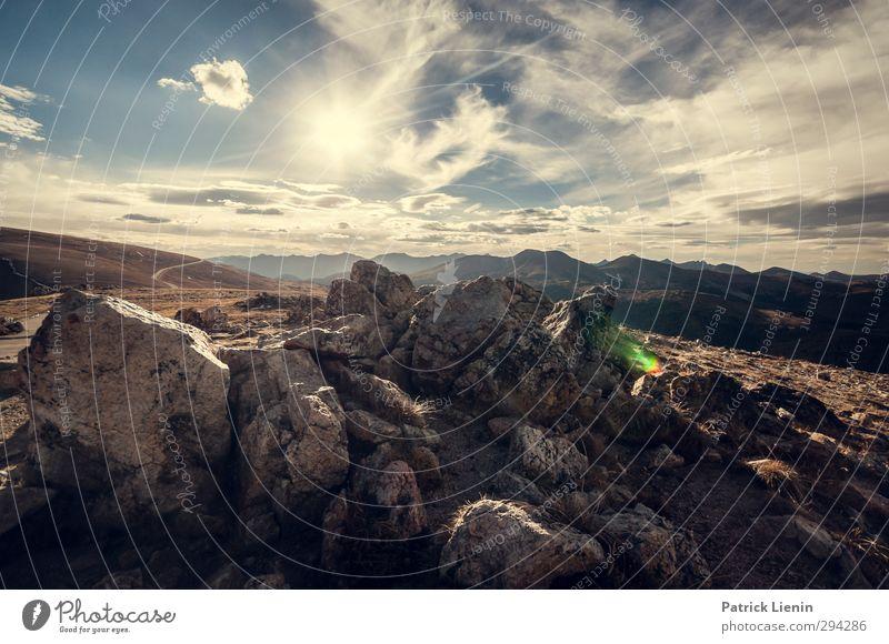 Sky World Natur Landschaft Umwelt Berge u. Gebirge Felsen Wetter Abenteuer Gipfel
