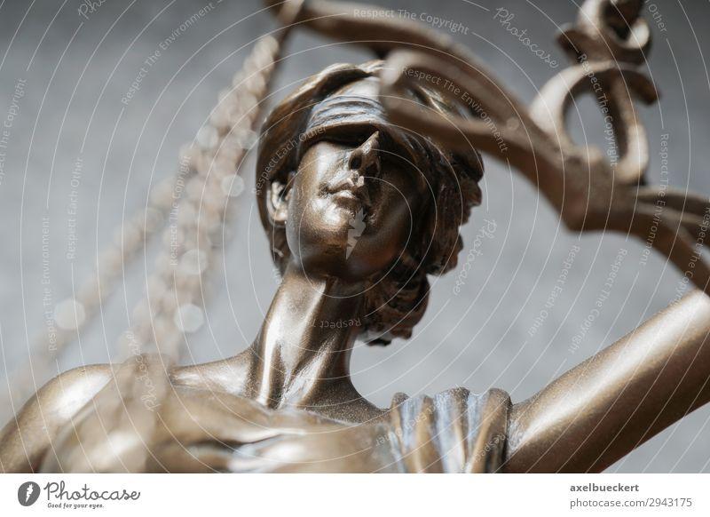 Justitia Beruf Business Skulptur Gerechtigkeit blind Symbole & Metaphern Statue Bronze Legislative Augenbinde Gesetze und Verordnungen Rechtssicherheit