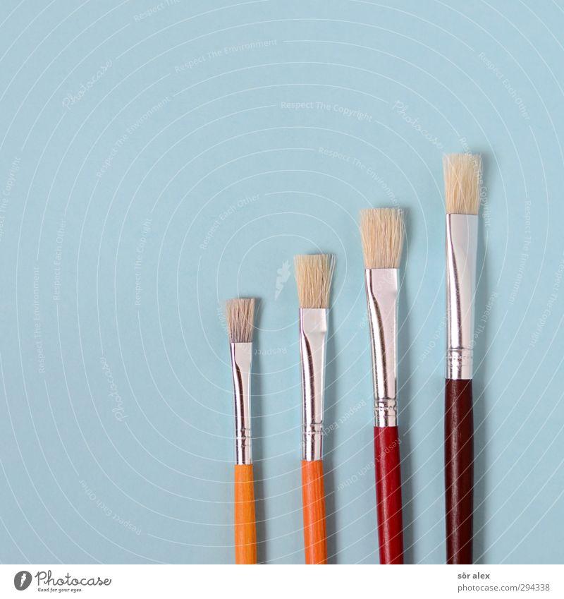 Daltons Bildung Kindergarten Schule lernen Künstler Werbebranche Team Pinsel braun gelb orange rot Kreativität malen 4 Verschiedenheit Größenunterschied