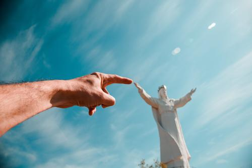 Jesus Statue in Polen: Pomnik Chrystusa Króla Ferien & Urlaub & Reisen Tourismus Ausflug Abenteuer Ferne Freiheit Sightseeing Städtereise Architektur