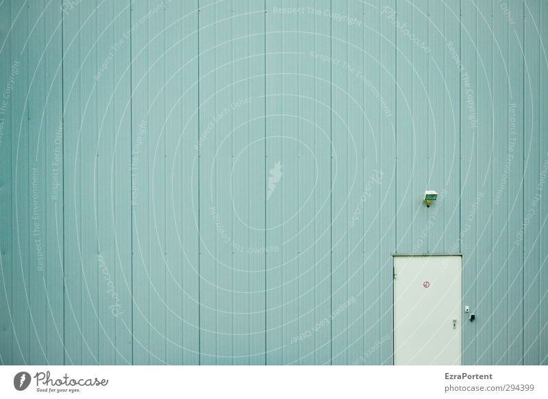Come in Menschenleer Haus Industrieanlage Fabrik Bauwerk Gebäude Architektur Mauer Wand Fassade Tür Klingel Metall Schilder & Markierungen Hinweisschild