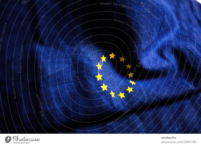 Europa again Baumwolle blau brexit Design euro Europafahne Fahne Falte gelb Stoff gold Kreis Stern (Symbol) Symbole & Metaphern Textilien Wahrzeichen