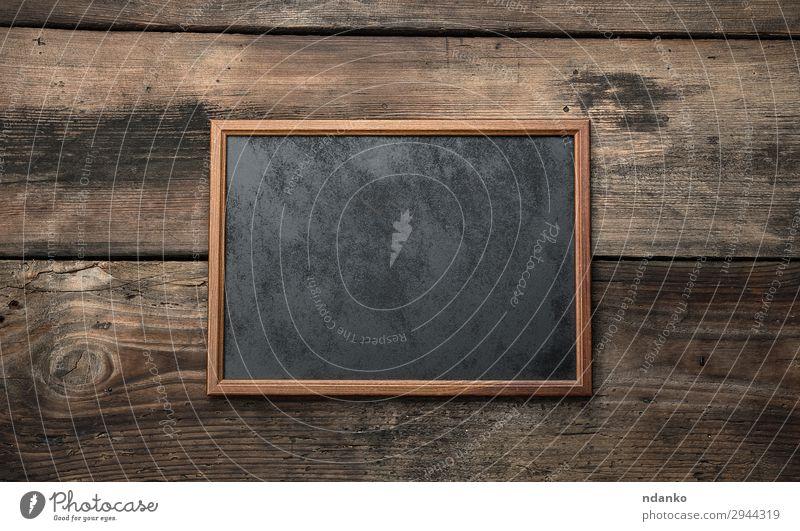Holz leere Kreidetafel Dekoration & Verzierung Schule Tafel alt schreiben retro braun schwarz Hintergrund blanko Holzplatte Textfreiraum Zeichnung Bildung