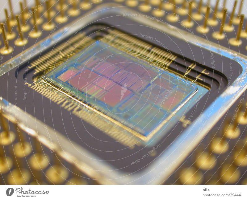 486 Prozessor antik langsam Makroaufnahme Elektrisches Gerät Technik & Technologie processor altehrwürdig Personenzug Elektronik