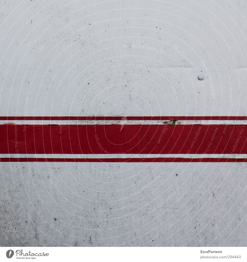 leichte Gebrauchsspuren Technik & Technologie Industrie Menschenleer Architektur Mauer Wand Fassade alt dreckig einfach trashig grau rot weiß Vergänglichkeit