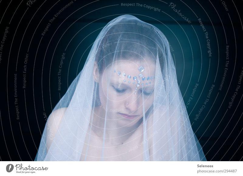 ich bin dann mal weg schön Körper Haare & Frisuren Haut Gesicht Kosmetik Hochzeit Mensch feminin Frau Erwachsene 1 Schleier träumen Traurigkeit Gefühle Stimmung
