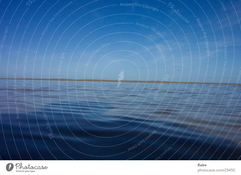 Texel 2003 Meer Strand Insel Schönes Wetter Nordsee Wasseroberfläche Niederlande wellenlos